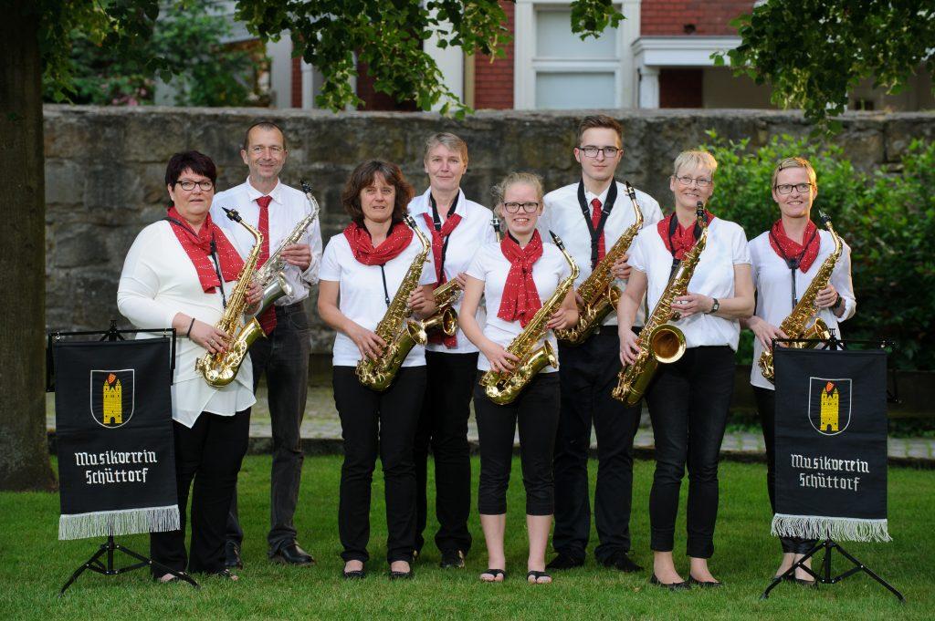 Unser Saxophonregister (Foto: Andreas Kleve)