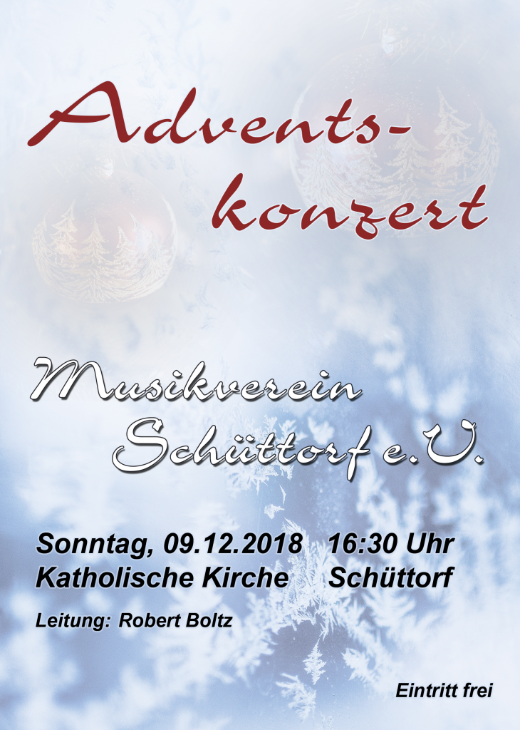 Flyer Adventskonzert 2018